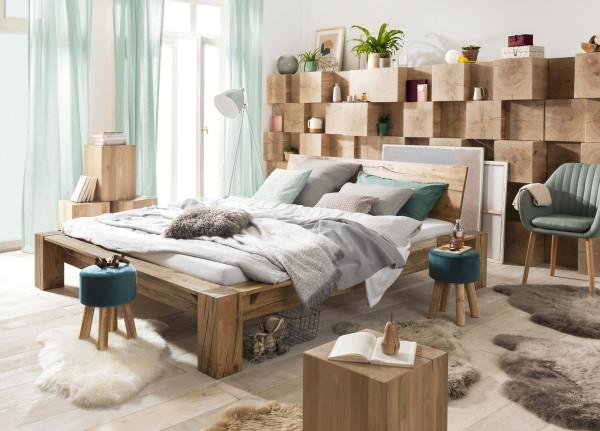 Modular-Bett-Morten-Hocker-Laveno-Eiche-Beistelltisch-Holzklotz