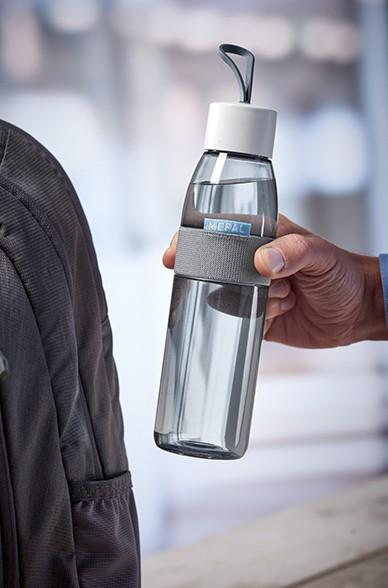 Mepal Trinkflasche Ellipse Weiß Unterwegs auslaufsicher Picknick Sport Sportflasche