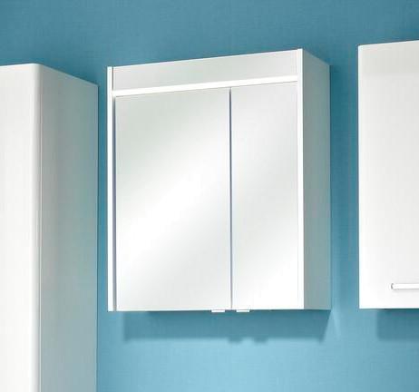 Pelipal Spiegelschrank Piolo Weiß großer Spiegel Badspiegel Spiegelfront Griffe Chrome Badezimmermöbel