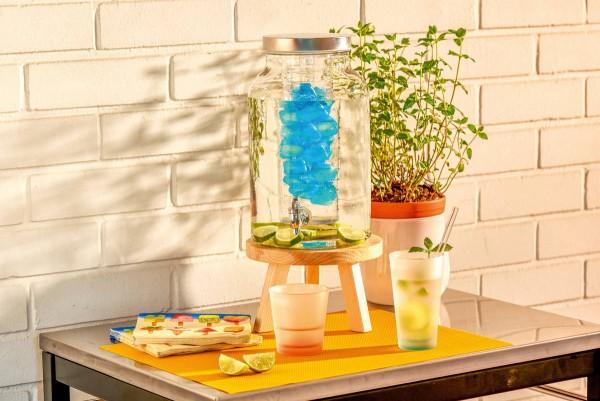 Leonardo Getränkespender Colorata Glas lebensmittelgerecht
