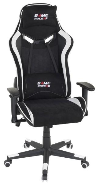 Duo Collection Gaming Chair Game-Rocker G-30 Large Schwarz Weiß verstellbare Armlehnen Kopfstütze höhenverstellbar