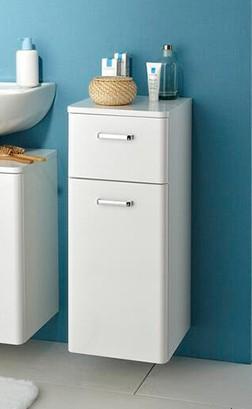 Pelipal Unterschrank Piolo Weiß viel Stauraum Schublade Fächer Schranktüre viel Platz Badezimmer