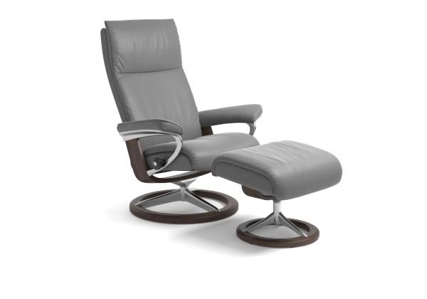 Stressless-Sessel-Aura-M-mit-Hocker-grau