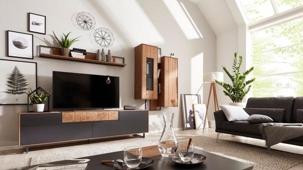Interliving Wohnwand 2106 Raucheiche modernes Design hochwertig langlebig
