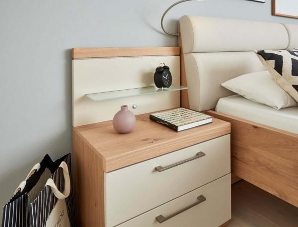 Interliving Konsole 1018 Balkeneiche furniert Schlafzimmermöbel hochwertig Nachtkästchen Eiche Balkeneiche Sand