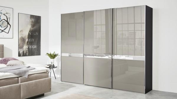 Interliving Schwebetürenschrank 1206 Graphit Modernes Schlafzimmer Schrank grau konfigurierbar erweiterbar