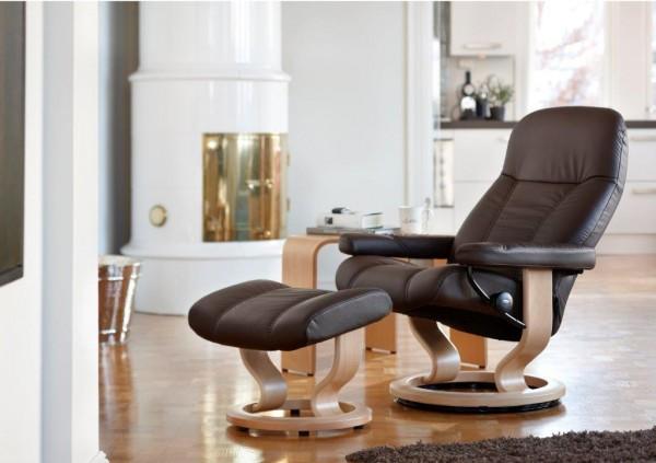 Stressless-Relaxsessel-Consul-Leder-Braun-Größe L