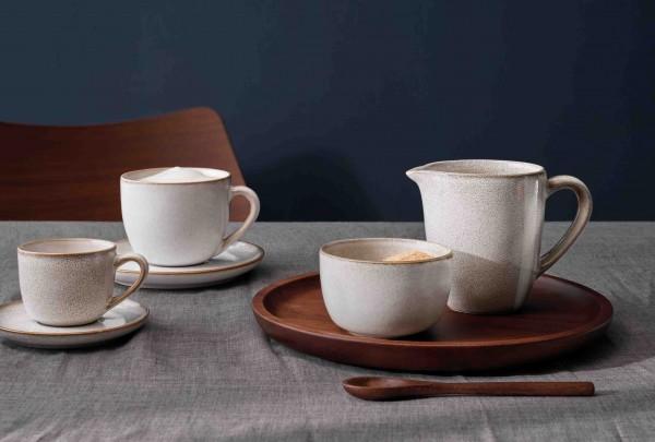 ASA Selection Henkelbecher Saisons sand Tasse glasiert Becher modernes Geschirr beige sandfarben Effektglasur