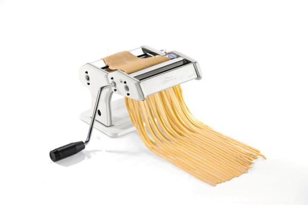 Gefu Pastamaschine Pasta Perfetta Weiß für unterschiedliche Nudelsorten inklusive Tischklemme rutschfester Sockel