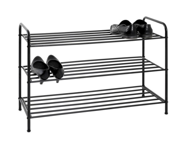 Haku Schuhregal Fred Schwarz Ca.12 Paar Schuhe Schuhpaare 24 Schuhe kleine Flure schmal