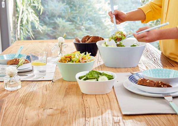 Mepal Salatset Conix Weiß hochwertiger Kunststoff nicht gesundheitsschädlich nachhaltig