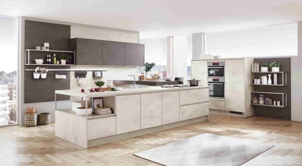 Nobilia Küche Riva Weißbeton