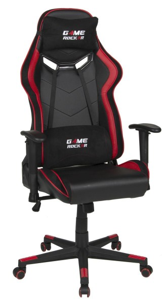 Duo Collection Gaming Chair Game-Rocker G-30 Large Schwarz/Rot modern futuristisch Akzentfarben