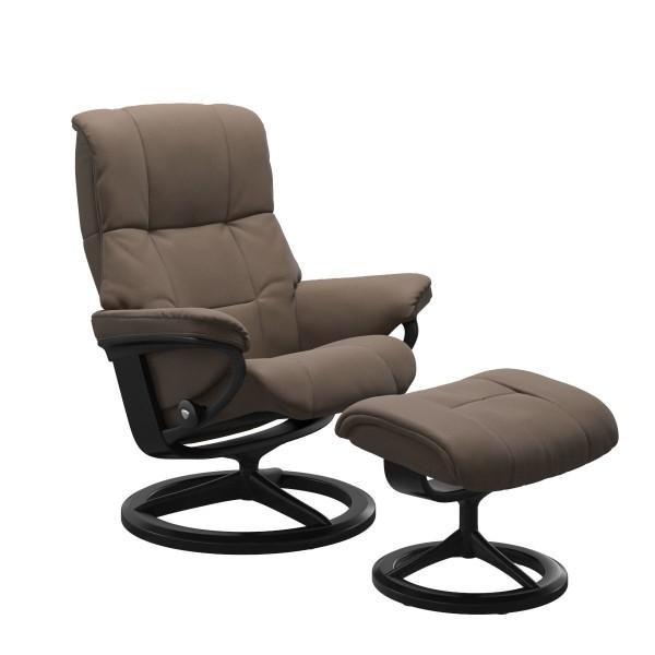 Stressless Sessel mit Hocker Mayfair M Mole weiches Batick Leder hohe Qualtiät Sitzkomfort