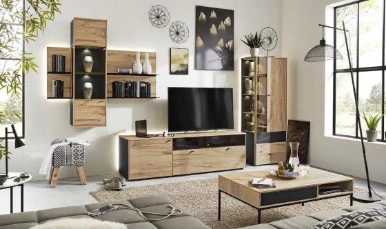 Interliving Möbel Wohnwand Wohnwand Vitrine Highboard Lowboard - Marken bei Möbel Fischer