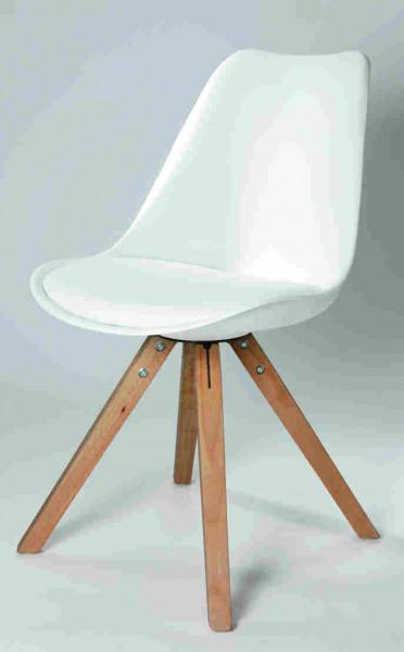 Actona-Esszimmerstuhl-Arthur-weiss-modern-Holz-Sitzschale