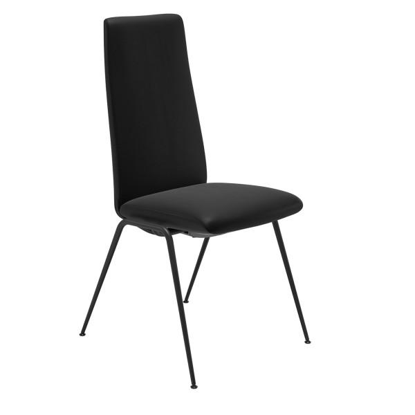 Stressless Stuhl Laurel Schwarz hochwertig Lederstuhl Esszimmerstuhl weiches Leder