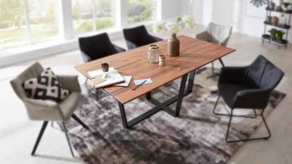 Interliving Design-Tisch 5107 Balkeneiche modern zeitlos schlicht elegant stilvoll Designtisch Industrielook