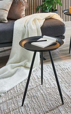 Haku Beistelltisch 47 cm Hans Schwarz schlicht modern zeitlos elegant reduziert