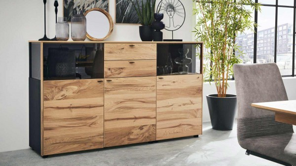 Interliving Sideboard 5604 Eiche Rustico Regal Wohnzimmermöbel made in Germany gute Qualität Garantie