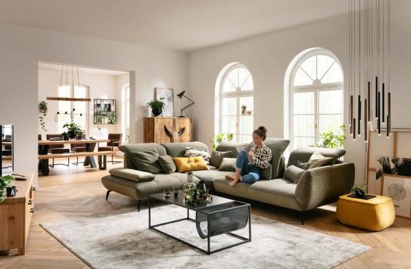 Steinpol Poco Eckkombination New Jersey Olive Armlehnen Armstützen anlehnen modernes Sofa bequem