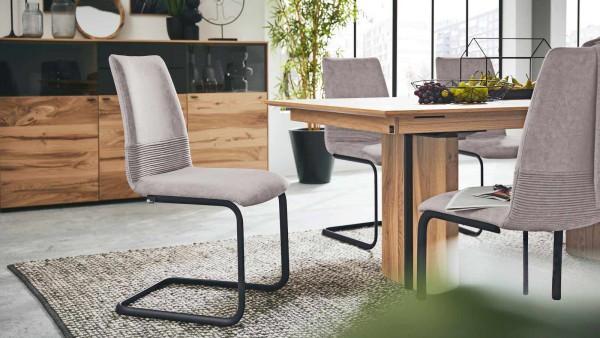 Interliving Stuhl 5604 Stone Weich Sitzpolster Stoffbezug grau hellgrau pflegeleicht