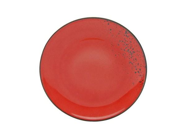 Creatable Teller Nature Collection rot spülmaschinenenfest spülmaschinengeeignet mikrowellengeeignet pflegeleicht langlebig