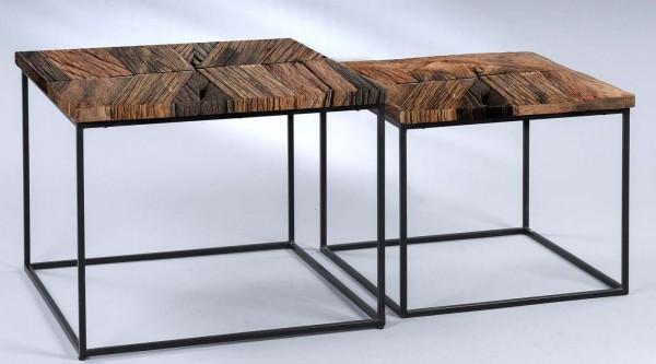 M2 Kollektion 2-Satzisch Alabama Massivholz Naturholz Echtholz Holztisch 2-teilig Couchtisch