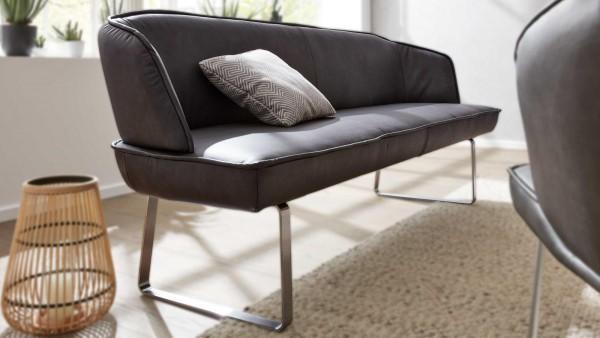 Interliving Solobank 5503 Asphalt bequem komfortabel Polsterbank Echtlederbezug schlichtes Design