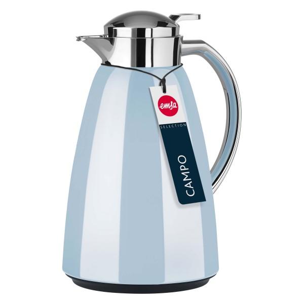 Emsa Isolierkanne Campo Pastellblau Kanne Teekanne isolierend wärmespeichernd Kaffeekanne