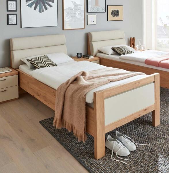 Interliving Luxus-Einzelbett 1018 Balkeneiche/Sand Klassisches Design Bett Schlafzimmer Schlafzimmermöbel zeitlos