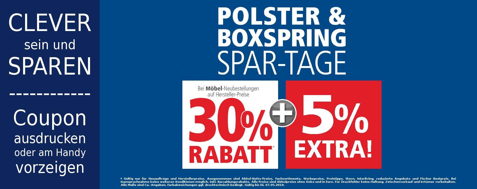 Polstermöbel-Boxspring-Spartage