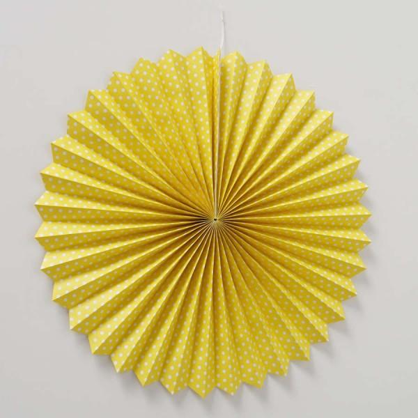 Boltze Dekoanhänger Party Weiß-Gelb 80cm Durchmesser verschiedene Motive Punkte
