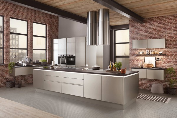 Nobilia-Küche-Inox-gebürsteter-Stahl-Küche-Profi