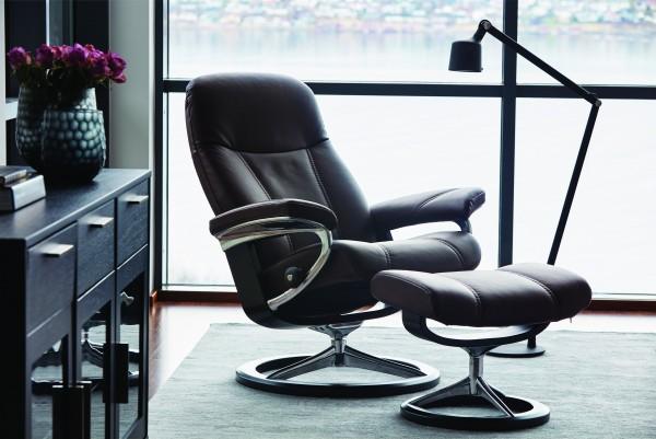 Stressless-Sessel-Consul-M-Leder-Batick-Brown-Relaxsessel