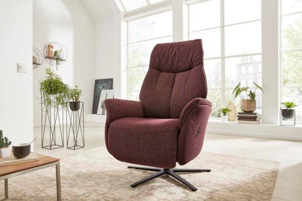 Interliving Relax-Sessel 4560 Melange Chianti Vollpolsterung Rückenlehne weicher Sessel Scandilook Wohnzimmer