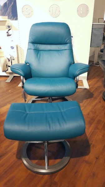 Stressless-Sessel-Sunrise-M-Leder-blau