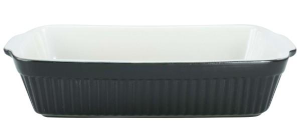 CreaTable Auflaufform Classic schwarz/weiß spülmaschinenfest mikrowellengeeignet leichte Reinigung